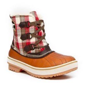 Sorel Tivoli Plaid Short Boots